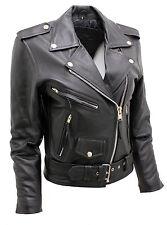 Women's Stylish Brando Black Leather Biker Jacket