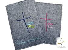 Gotteslobhülle Filz Symbole Hülle Gotteslob mit Namen Kommunion Handarbeit