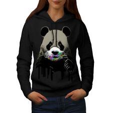 Wellcoda Cute Panda Sweets Animal Womens Hoodie, Wild Casual Hooded Sweatshirt