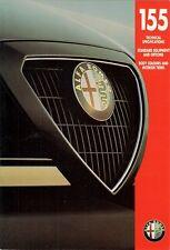 Alfa Romeo 155 1993-94 UK Market Specification Brochure 1.8 2.0 TS 2.5 V6 Q4