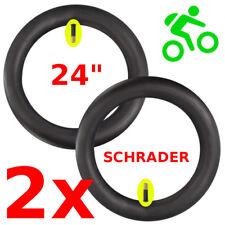 """2x CHAMBRE A AIR 24 x 1.75 à 2.35"""" HUTCHINSON SCHRADER VELO BMX VTT VILLE PNEU"""