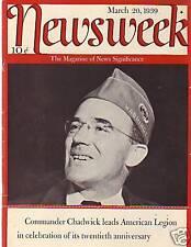 1939 Newsweek March 20 - Duke and Duchess of Windsor