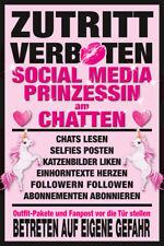 Betreten verboten! - Social Media Prinzessin - Poster Druck - Größe 61x91,5 cm