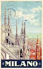REPRO DECO AFFICHE ENIT MILANO CATHEDRALE MILAN ITALIE SUR PAPIER 190 OU 310 GRS