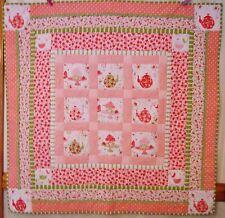 Strawberry Tea Party Handmade & Finished Quilt Ruffle Rac Michael Miller fabrics