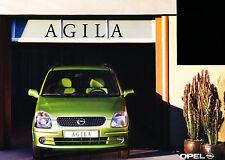 2000 Opel Agila Dutch Sales Brochure 3/00 Prospekt