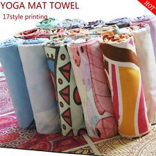 Yoga Mat Print Fitness Towel Sport Exercise Non-Slip  Absorption Sweat Blanket
