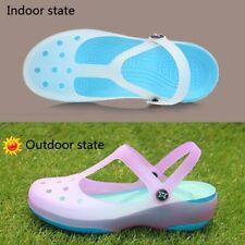 Womens Sandals Color Change Candy Shoes Summer Croc Beach Shoes Flat Sandals