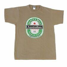 Adult T Shirt Australian Australia Day Souvenir Gift 100% Cotton - Beach & Beer