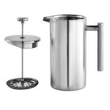 French Press Coffee Maker 350ml 500ml 1000ml Metal Stainless Steel Tea Pot