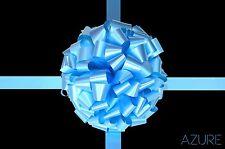 Bleu azur large bow handmade in uk pour cadeau voiture vélo bus divers tailles