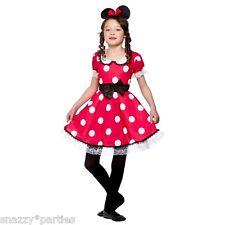 Costume Carnevale Bambina Da Minnie Vestito Di Topolina Halloween Festa Bimba