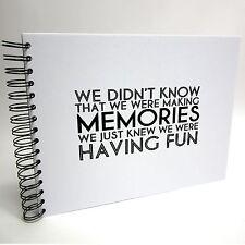 Quote A3/A4/A5 Making Memories, Scrapbook, Photo Album, Memory Book, Memory Book