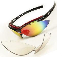 Daisan Radbrille Fahrradbrille Sportbrille mit Wechselscheibe Radbrille