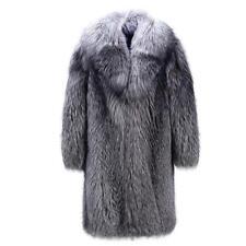Mens Outwear Parka Fox Fur Coat Winter Warm Long Jacket Leather Trench Coat 18