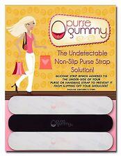 Purse Gummy non slip purse strap grip strips SET OF 6 PIECES  BLACK / SEMI-CLEAR