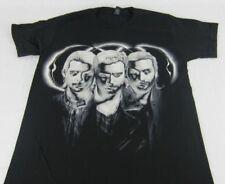 NEW Mens Black Swedish House Mafia 3 Faces Short Sleeve T-Shirt Size S L XL