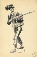 CARTE POSTALE ARMEE SOLDAT GARDIST FUSILS