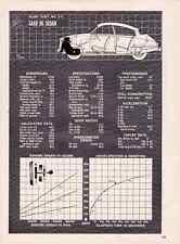 1962 SAAB 96 SEDAN ~  ORIGINAL 4-PAGE ROAD TEST / ARTICLE / AD