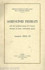 PUGLIA_PROVINCIA BARI_AGRARIA_CONCORSO AGRICOLTURA_AZIENDE PREMIATE_GRANO_ORTO