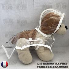Manteau veste imperméable transparent 4 coloris différents pour chien NEUF