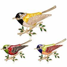 Fashion Crystal Animal Birds Enamel Rhinestone Brooch Pin Costume Women Jewelry