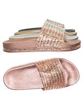 1eda5df1f947b Dazzling02 Shiny Rhinestone Crystal Molded Footbed Slip On Slipper Flat  Sandals