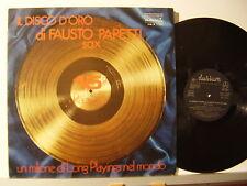 FAUSTO PAPETTI disco LP 33 giri IL DISCO D'ORO SAX 15  RACCOLTA Made in Italy