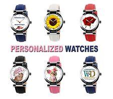 Personalized custom women's watch quartz  logo design image photo