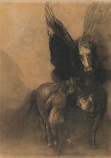 "Odilon Redon: ""Pegasus and Bellerophon"" (c.1888) — Giclee Fine Art Print"
