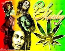 Bob Marley Art Canvas Poster Print Iconic Movie Star Singer Cannabis Leaf Rasta