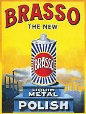 Brasso Liquid Metal Retro pequeñas, medianas, grandes Vintage Acero Placa de pared de muestra de la lata