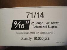 "Standard Upholstery Staples 71 Series 3/8"" Crown 9/16"" Leg Galvanized 22 Gauge"