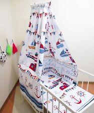 2-10 pcs Baby Nursery Bedding Set 120x90/135x100 marine bateaux Canopy