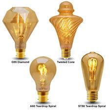 Vintage DEL 2 W Edison Style Filament Ampoule B22 Ou E27 Twister ST58 A60 G95