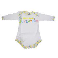 JUVENTUS body bambino/neonato manica lunga in cotone bianco varie taglie