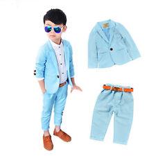Baby Boys Blazer Set Wedding Clothes Formal Wear Party Tuxedo Suits Jacket+Pants