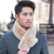 100%Real Genuine Rex rabbit scarf Shawl Whole skin Fur Scarves Fur Collar Unisex