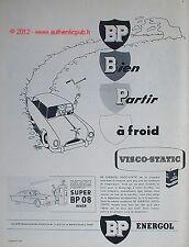 PUBLICITE SUPER BP 08 PETROLE VISCO STATIC BIDON JACQUES FAIZANT 1956 FRENCH AD