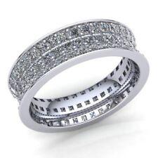1 Ctw Round Cut Diamond Ladies ThreeRow Pave Eternity Band Ring 14K Gold