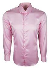 Hombre Satén Brillante tacto de seda estilo informal Vestido Boda Camisa 422