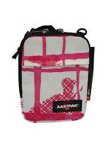 Borsa a tracolla piccola da donna bianca e rosa Eastpak zip cerniera casual moda
