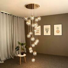 LED Glass Globe Chandelier for Living Room Ceiling Lamp Fixtures Staircase Light