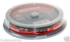 10 DVD -R Maxell vergini STOCK 4.7GB 120MIN 16X in CAKE 10 + 1cd verbatim 275593