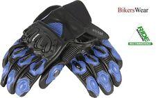 Weise Daytona Short Leather Street Bike Motorcycle Summer Glove Black/Blue