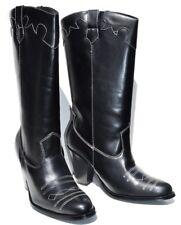 Wild Diva Cowboy Black Western Womens Boots (Retail $128)