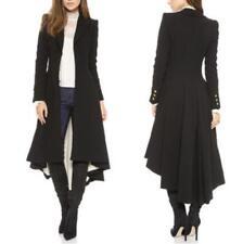 punk Women Victorian Black Trench MIlitary  Ladies OL Coat Jacket Dress shirts