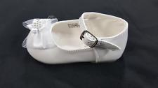Baby Toddler Girls White  Dress Shoes Baptism Christening Mary Jane Flats/ 1-8