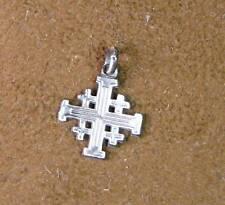 Piccola CROCE di GERUSALEMME  Ciondolo  argento 925