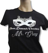 50 FIFTY SHADES OF GREY 3 T SHIRT - Mr. Grey Glitzer Maske Damen Befreite Lust
